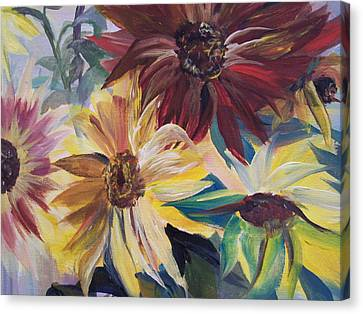 Mixed Sunflowers Canvas Print
