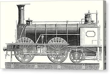 Mixed Traffic Locomotive Canvas Print