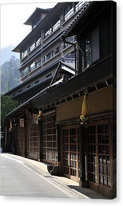 Miyajima Canvas Print - Miyajima Street Scene by Andy Smy
