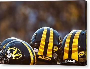 Mizzou Football Helmet Canvas Print by Replay Photos