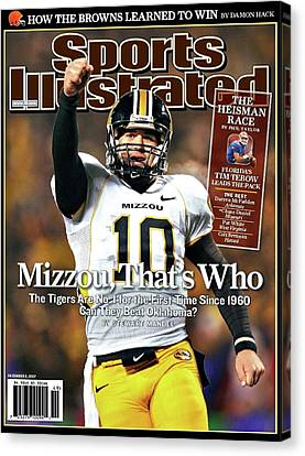Tebow Canvas Print - Mizzou That's Who, Sports Illustrated, Chase Daniel by Thomas Pollart
