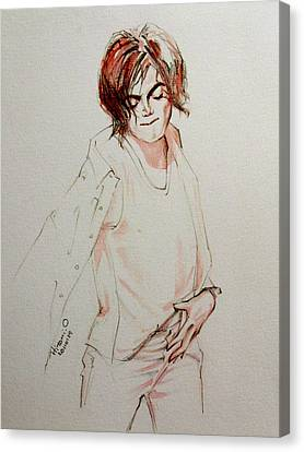 Mj In My Room Canvas Print by Hitomi Osanai