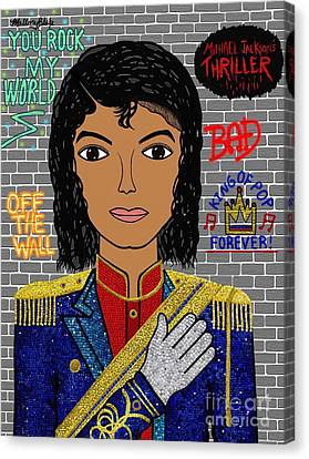King Of Pop Canvas Print by Mallory Blake