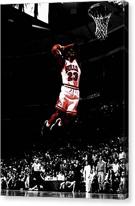 Patrick Ewing Canvas Print - Mj Rises by Brian Reaves