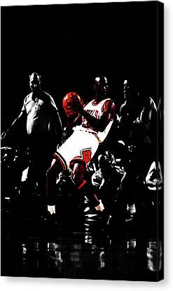 Sun Rays Canvas Print - Mj School Time by Brian Reaves