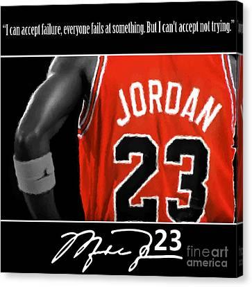 Jordan Canvas Print - Try Like Jordan by Antonio Davis