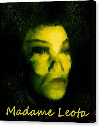Madame Leota Original Work Canvas Print by David Lee Thompson
