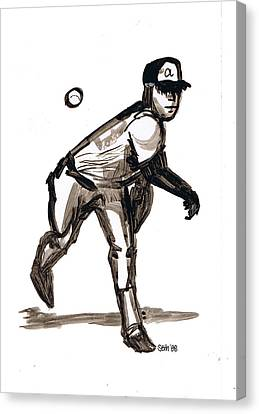 Mlb The Heater Canvas Print by Seth Weaver