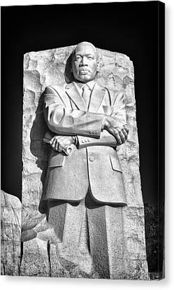 Mlk Memorial In Black And White Canvas Print