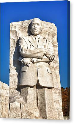 Mlk Memorial In Color Canvas Print by Val Black Russian Tourchin