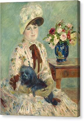 Mlle Charlotte Berthier Canvas Print by Auguste Renoir