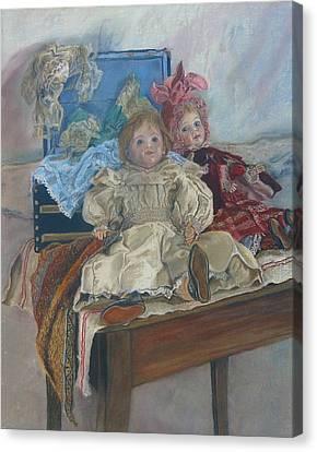 Mlle. Pinchon Canvas Print by Miriam A Kilmer