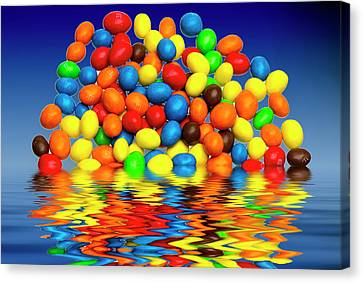 Canvas Print featuring the photograph Mm Chocolate Sweets by David French
