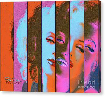 Mmarilyn 130 Sis Red Canvas Print