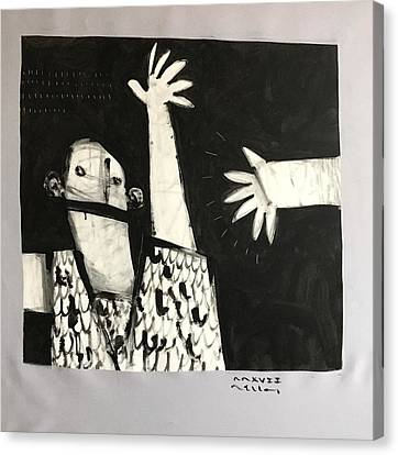 Mmcvii Paranoia No 2  Canvas Print by Mark M Mellon
