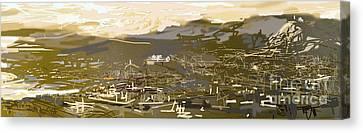 Mmm Athens Canvas Print by Jelena Ignjatovic