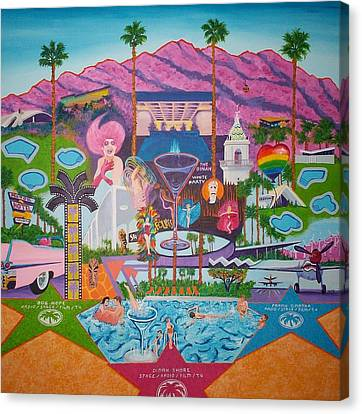 mmmm... Palm Springs Canvas Print by Randall Weidner