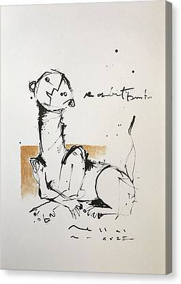 Expressionist Canvas Print - Mmxvii An Obedient Beast  by Mark M Mellon