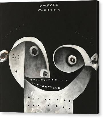 Mmxvii Masks For Despair No 1  Canvas Print by Mark M Mellon