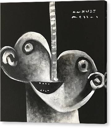 Mmxvii Masks For Despair No 2  Canvas Print by Mark M Mellon