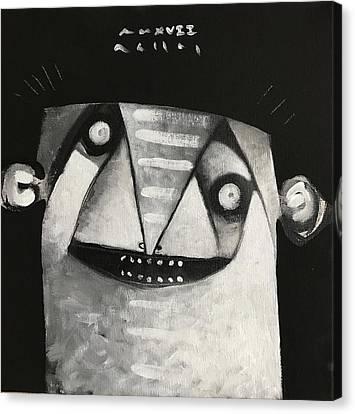 Mmxvii Masks For Despair No 3  Canvas Print by Mark M Mellon