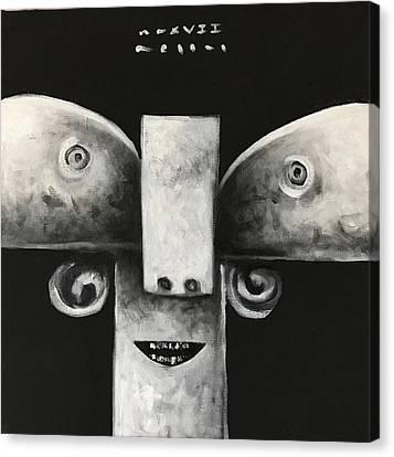 Mmxvii Masks For Despair No 4  Canvas Print by Mark M Mellon