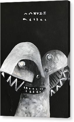 Mmxvii Masks For Despair No 5 Canvas Print by Mark M Mellon