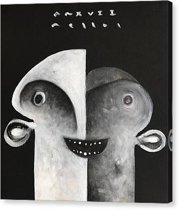 Mmxvii Masks For Despair No 7 Canvas Print by Mark M Mellon
