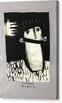 Mmxvii Paranoia No 3  Canvas Print by Mark M Mellon