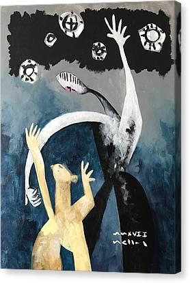 Art Brut Canvas Print - Mmxvii The Ascension No. 2  by Mark M Mellon
