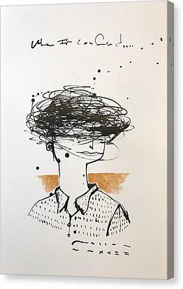 Expressionist Canvas Print - Mmxvii When I'm Confused  by Mark M Mellon