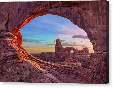 Shower Canvas Print - Temple Of Inspiration by Mikes Nature