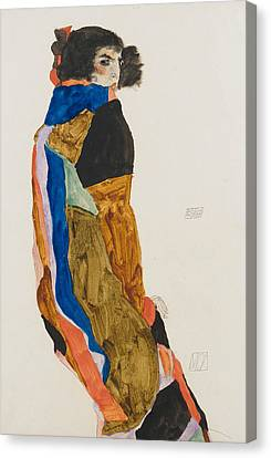Expressionist Canvas Print - Moa by Egon Schiele