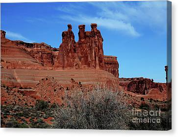 Canvas Print featuring the photograph Moab by Edward R Wisell