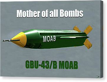 Canvas Print featuring the painting Moab Gbu-43/b by David Lee Thompson