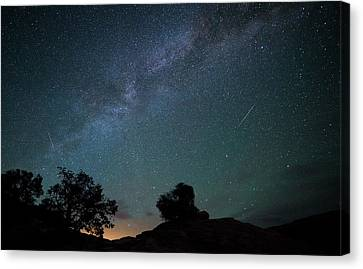 Moab Meteors Canvas Print by Darren  White