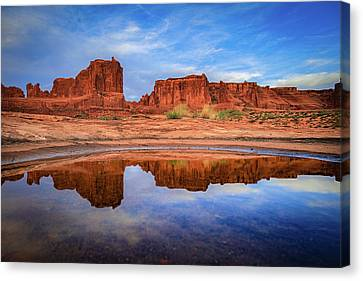 Moab Reflections Canvas Print by Edgars Erglis