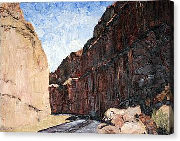 Moab Train Tracks Canvas Print by Jane Autry