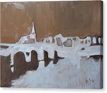 Moasbrogk In Brown Tints Canvas Print by Nop Briex