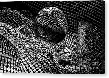 Mobious 25 Monochrome Canvas Print by Bob Christopher
