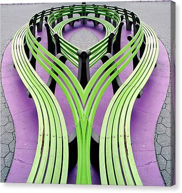 Mobius Bench Canvas Print by Jim DeLillo