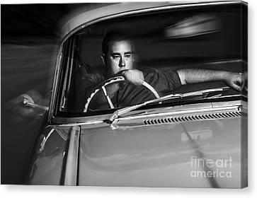 Mobster Driving Getaway Vehicle During Car Chase Canvas Print by Jorgo Photography - Wall Art Gallery
