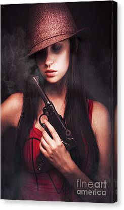 Mobster Toting A Gun Canvas Print by Jorgo Photography - Wall Art Gallery