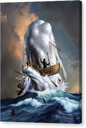 Canvas Print - Moby Dick 1 by Jerry LoFaro