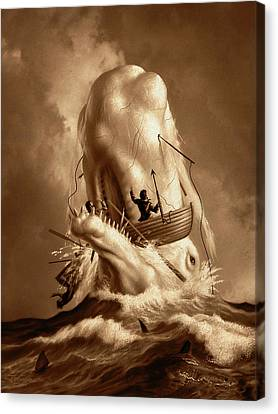 Canvas Print - Moby Dick 2 by Jerry LoFaro
