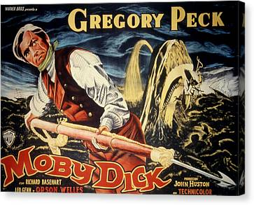 Posth Canvas Print - Moby Dick, Gregory Peck, 1956 by Everett