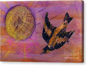 Canvas Print featuring the mixed media Mockingbird by Desiree Paquette