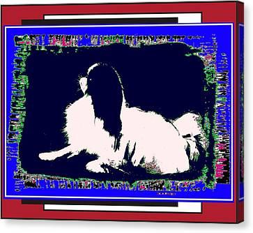 Mod Dog Canvas Print by Kathleen Sepulveda