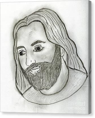 Mod Jesus Canvas Print by Sonya Chalmers