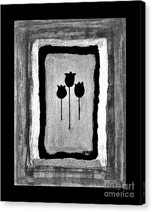 Mod Tulips Canvas Print by Marsha Heiken